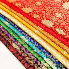 Chinese Han costume Jacquard Silk Kimono Brocade Fabric Rich Flowers Thick Style