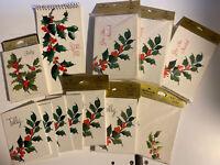 Vintage Hallmark Bridge Lot- HOLLY- Tally Cards, Scorepad, Invitations Lot- NOS