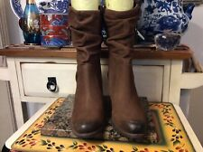 SIZE 7.5 UGG Australia DAYTON Women's Boots Heel Shoes 1010192 Brown leather