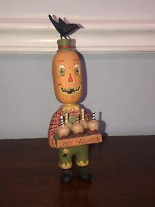 Bethany Lowe Pumpkin Boy Figure By Greg Guedel Halloween rare Retired vintage