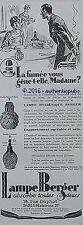 PUBLICITE LAMPE BERGER BRULE PARFUM BRULEUR MODELE LALIQUE DE 1928 FRENCH AD PUB