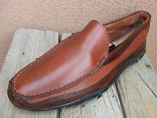 ALLEN EDMONDS Mens Dress Shoe Brown Leather Casual Slip  Driver Loafer Size 9.5D