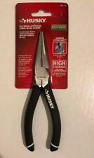HUSKY 6 in. Long Nose Pliers Comfortable Grip Heat Treated