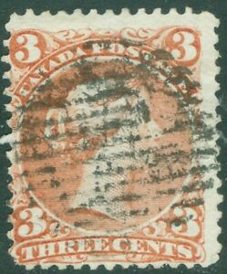 Canada - 1868 - 3¢ Large Queen Red - Uni#25 - #9