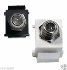 Keystone Module Jack F Type Female to Female Connector Black or White