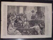 Baden-Baden Germany Taking The Waters Harper's Weekly 1872 Original Print