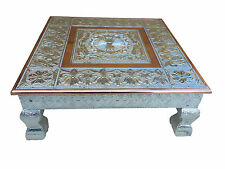 "15""x 15"" Hindu Wedding Bajot Bajath Chowki Puja Low Small Table Camping Table"