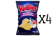 Ruffles All Dressed Potato Chips 220g x 4 bags FRESH CANADIAN