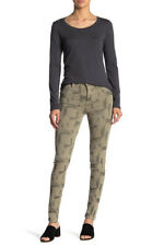 Free People Womens High Rise Printed OB829879 Jeans Skinny Khaki Green Size 28W