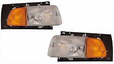 STERLING TRUCK AT9522 A9522 1998-2008 PAIR HEADLIGHTS HEAD LAMP FRONT LIGHTS SET