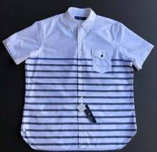 Ralph Lauren Polo Button Front Oxford Pocket Striped shirt Men Size XXL NEW