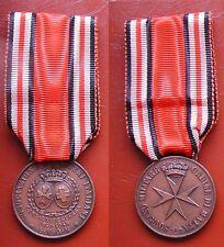 S.M.O.M. SOVRANO MILITARE ORDINE MALTA MEDAGLIA BENEMERENZA PER GUERRA 1940/1945