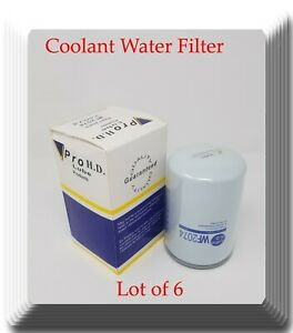 6 x coolant Spin-on Water Filter Fits:Cummins 258264 3318318 3305370 3315788
