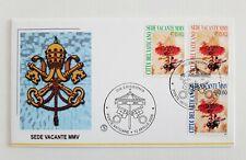 Busta primo giorno Vaticano Sede Vacante 2005 francobolli fdc