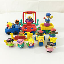 Fisher Price Little People Lot Cars Gas Station Swing School Kids Bicycle