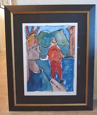 Bob Dylan Giclee Print Statue of Liberty Drawn Blank Series Framed 2008 213/295