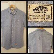 Vans off the wall. Great Mens Light Blue  shirt size S. Cotton/Linen Mix