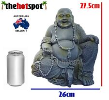 28cm Laughing Buddha Statue Garden Bali Mindfulness Meditation Resin Fat Light