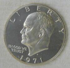 1971 S Eisenhower Silver Dollar Commemorative $1, PROOF DCAM