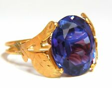 15ct Lab Alexandrite Ring 14kt.