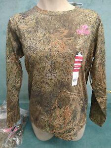 Mossy Oak BRUSH Camo Ladies long sleeve  T Shirts - Lightweight Hunting Shirts