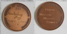 2 X Australia Federal council Agricultural Societies 1788 1988 Medal (3261721M8)