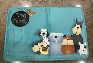 Dog Family Memory Foam Mat
