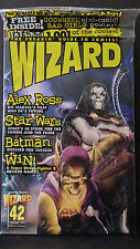 WIZARD MAGAZINE NO. 42-NEW-VILLAIN COVER-LADY DEATH CHROMIUM & STAR WAR WV CARDS