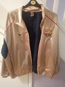 RARE 2001-02 Gold FC Barcelona Track Jacket Size XL