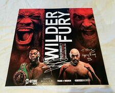 Tyson Fury & Deontay Wilder Signed Boxing Fight Poster PROOF Staples Center Dec1