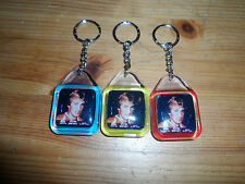 3x Wayne Gretzky Edmonton Oilers 1980 Rare Keychain Blue yellow red Made Canada