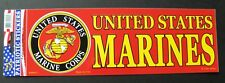 Marine Corps Bumper Sticker US Marines made in the USA 9.5 x 3.25 inches