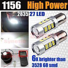 1156 High Power 2835 1395LM 27 LED White Turn Signal Tail Brake LED Light Bulbs