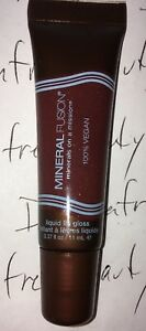 Mineral Fusion Vegan Moisture Liquid Lip Gloss *SENSITIVE* Sheer Berry Red New