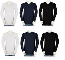 Styllion Mens Shirts V Neck - Long Sleeve - Mid Weight - VRLS/CRLS