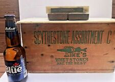 Norton Hard Arkansas Translucent Sharpening Stone Hone Oilstone Pike w/label NR