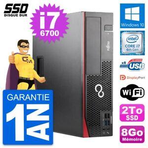 PC Fujitsu Esprimo D556 DT Intel Core i7-6700 RAM 8Go SSD 2To Windows 10 Wifi