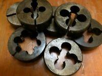 """Aussie P&N 2"""" split die button BSB BRASS 1/4 5/16 3/8 1/2 9/16 5/8 7/8"""" 1"""" X 26"""