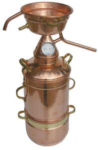 Dr. Richter 2L High-End Alquitara Destille mit Kolonne/Thermometer 2 Liter