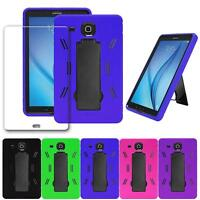 Shockproof Combo Stand Box Case+Glass Screen Protector For Galaxy Tab E 9.6/T560