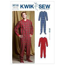 Kwik Sew patrón de costura Pijama Todo en Uno Para Hombre Talla S-XXL K3713