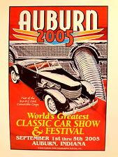 Auburn Cord Duesenberg Festival 2005 Poster Print Club Reunion L-29 810 812 852