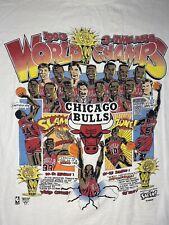 Vintage 3 Time NBA World Champion Chicago Bulls Salem Tee T-Shirt Size M Jordan