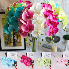 New 1/3PCS Artificial Flowers Silk Bouquet Bridal Home Wedding Vase Decor DIY