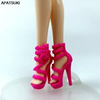 Hot Pink Rose Fashion Doll Shoes for Monster High Dolls High-heel Shoes Sandals