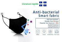 Masque Tissu Réutilisable Respirant Lavable 50x Ajustable Protect Anti Pollution
