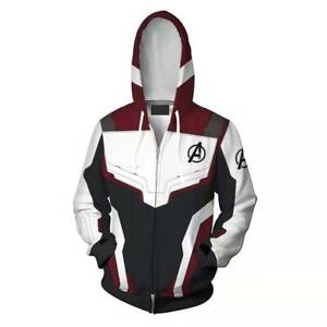 Avengers 4 Endgame Quantum Battle Suit Mens Adults Hoodie Sweatshirt Jacket Coat