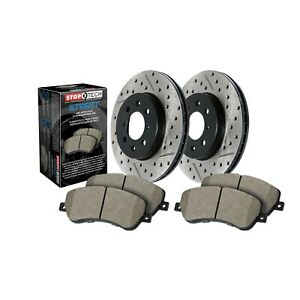 StopTech Disc Brake Pad and Rotor Kit Rear for BMW 330i, 335i, 335d / 938.34510