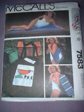 MCCALLS PATTERN 7583 ~ PICNIC PACKAGE ~ BEACH MAT PICNIC KITS PICNIC BAG + ~ NEW