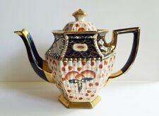Antique Lingard Tunstall Pottery England Imari Gaudy Welch Teapot